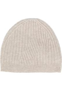 Pringle Of Scotland Gorro Travelling Canelado - Neutro