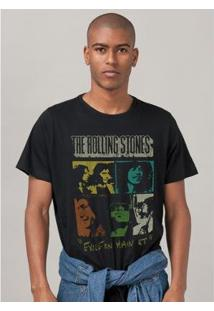 Camiseta Bandup The Rolling Stones Exile Break Down - Masculino-Preto