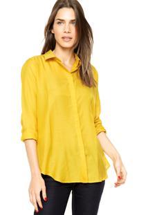 Camisa Lacoste Lisa Amarela