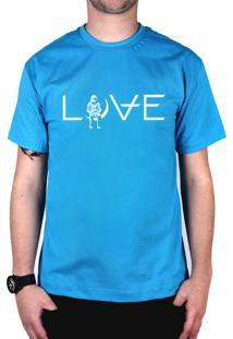 Camiseta 182Life Love Turquesa