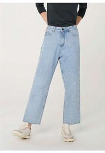 Calça Jeans Feminina Reta Azul
