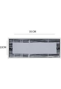 Plafon De Vidro De Embutir No Gesso 35Cm X 22Cm Riscado
