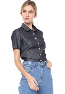 Camisa Jeans Dudalina Lisa Azul