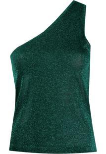 Missoni Blusa Ombro Único Com Efeito De Brilho - Verde