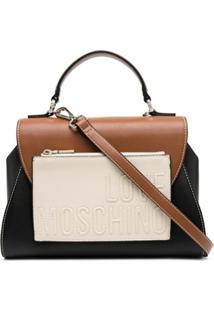 Love Moschino Bolsa Color Block - Preto