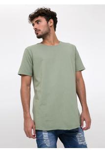 Camiseta Alongada Eco Com Estampa Nas Costas