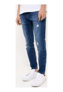Calça Skinny Em Jeans