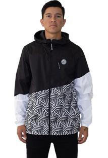 Jaqueta Windbreaker Dc Shoes Dazzle Dagup Preto Branco