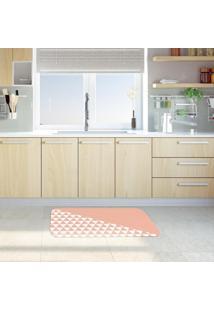 Tapete De Cozinha Mdecore Geométrico Rosa 40X60Cm