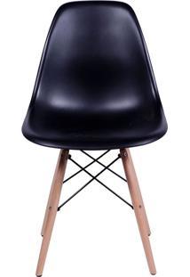 Cadeira Em Mdp/Mdf Base Escura 1102-Or Design - Preto