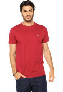 Camiseta Lacoste Gola Redonda Vinho