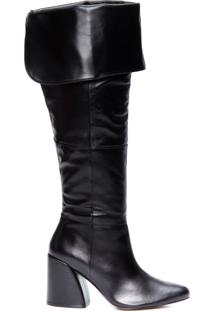 Bota Feminina Leather - Preto
