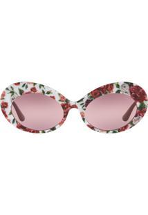 1db98d428eeb2 Okulos. Óculos Dolce   Gabbana Dg4345 3194w9 Estampado Lente Rosa Roxo Tam  55