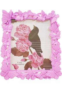 Porta Retrato Minas De Presentes Borboletas 20X25Cm - Porta Retrato Rosa