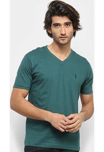 Camiseta Aleatory Bordado Masculina - Masculino-Verde
