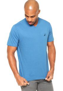 Camiseta Nautica Clássica Azul