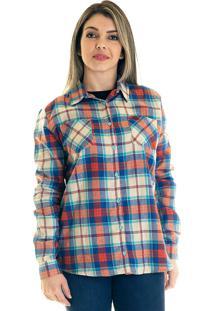 Camisa Xadrez Flanela 33401 Xadrez Bege