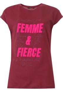 Camiseta Polo Wear Lettering Vinho