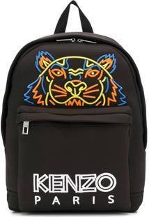 Kenzo Mochila Tiger Bordada - Preto