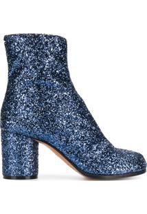 Maison Margiela Ankle Boot 'Tabi' De Couro - Azul