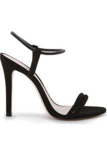 Sandália Minimal Nobuck Black | Schutz