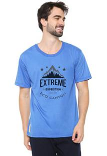 Camiseta Masculina Eco Canyon Extreme Expedition Azul