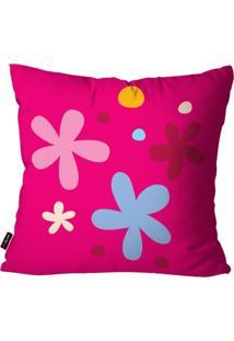 Capa De Almofada Pump Up Avulsa Infantil Pink Florzinhas 45X45Cm