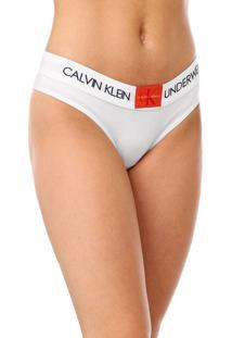 Kit 2Pçs Calvin Klein Underwear Tanga Lettering Branco