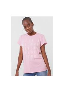 Camiseta Colcci Melhor Versão Rosa