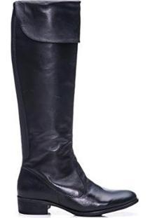Bota Feminina Bagger Over Knee Amyah - Feminino-Preto