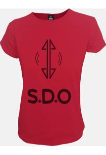 T-Shirt Fem S.D.O Logo Vermelho - Vermelho - Feminino - Algodã£O - Dafiti