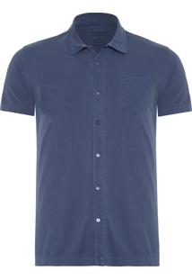 Camisa Masculina Cotton Knit - Azul
