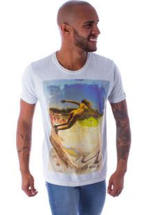 Camiseta Bossa Decote Canoa Skate Bikini Cinza