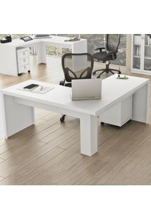 Mesa Para Escritório Angular Me4116 Branco - Tecno Mobili