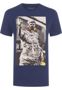 Camiseta Estampada Desde Sempre Graf - Azul