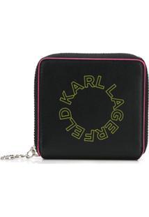 Karl Lagerfeld Carteira 'K/Neon' Pequena - Preto