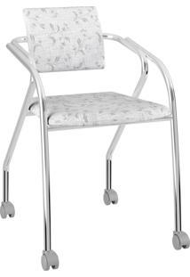 Cadeira 1713 Caixa Com 1 Tecil Fantasia Móveis Carraro Branco