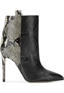 Paris Texas Ankle Boot Animalier - Preto