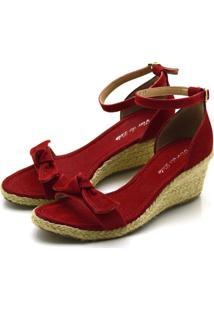 Sandã¡Lia Anabela Flor Da Pele Vermelha - Vermelho - Feminino - Dafiti