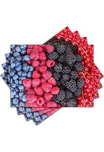 Jogo Americano - Frutas Vermelhas Com 4 Peças - 404Jo