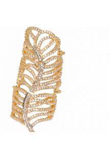 Anel La Madame Co Articulado Cravejado Dourado