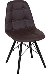 Cadeira Eames Botonê- Café & Madeira Preta- 83X44X39Or Design