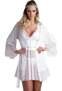 6c3616f70 Robe Branco Renda feminino