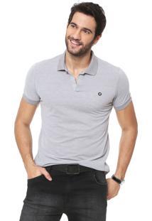 Camisa Polo Iódice Logo Cinza
