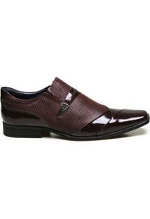 Sapato Social Em Couro Com Textura Calvest - Masculino