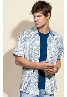 Camisa Masculina Manga Curta Em Tecido De Viscose