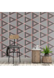Papel De Parede Degrade Triangles Gray