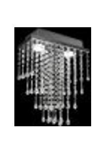 Lustre De Acrílico Retangular Gama Para 2 Lâmpadas Dicroicas Soquete Gu10 - Gama-30
