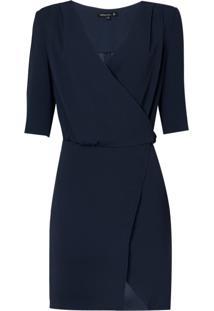 Vestido Transpasse Fivela (Azul Marinho / Navy, 36)