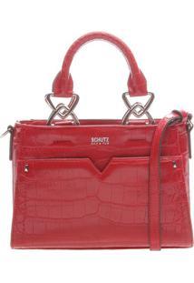 Bolsa De Mão Com Textura Animal - Vermelhaschutz